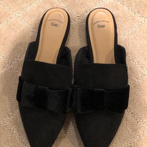 GAP Shoes | Gap Factory Black Mules